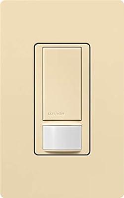 Single Pole Beige Color. Lutron MS-OPS2-BI Maestro Occupancy//Vacancy Sensor