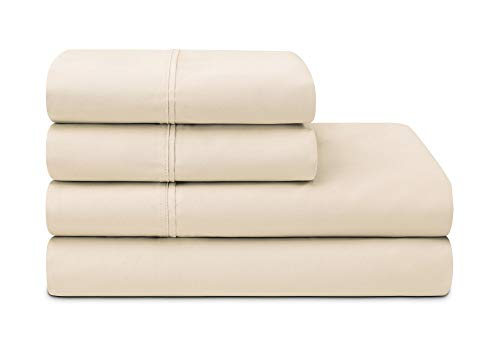 Sleepletics Celliant Performance Sheet Set with 2 Pillowcases (Tan, King 12'' Pocket Depth)