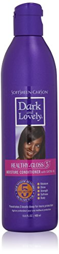 k and Lovely Healthy-Gloss 5 Moisture Conditioner with Satin Oil, 13.5 fl oz (Lovely Satin)