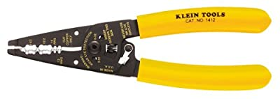 Klein Tools 1412 Dual Non-Metal Cable Stripper and 12 to 14 Gauge Solid Wire Cutter