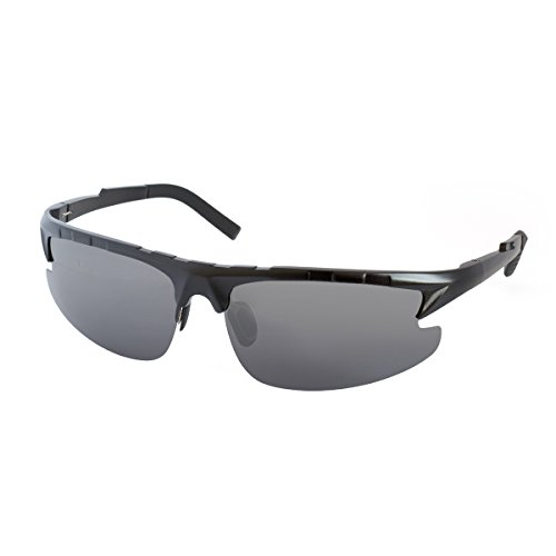 Lopez Aviator Polarized Sports Sunglasses for Baseball Running Cycling Fishing Golf Ultra Light - Black - Glasses Over Target Sunglasses