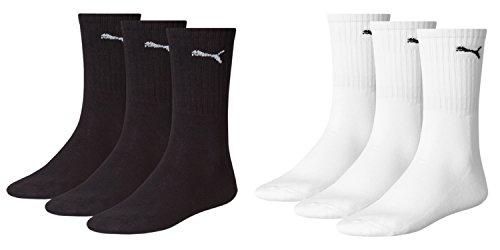 PUMA Sport 3P - Calcetines de deporte para hombre Negro (3x schwarz - 3x weiß)
