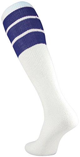 TCK Retro 3 Stripe Tube Socks (Large, ()