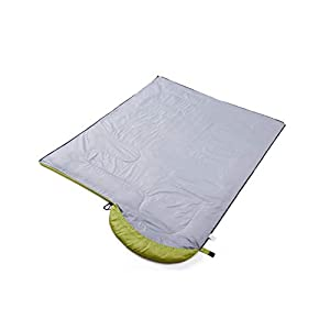 oaskys Camping Sleeping Bag - 3 Season Warm & Cool Weather - Summer, Spring, Fall, Lightweight, Waterproof for Adults & Kids - Camping Gear Equipment, Traveling, and Outdoors (Light Green, 7530inch)
