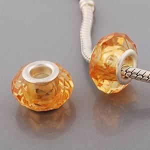 andante-stones Argent Zirconium Bead 031.b (Orange) Sachet en Organza pour bracelets
