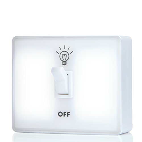 Price comparison product image Icoolcube LS0017 White Led Night Light Switch Wireless Battery Powered for Kids' Room,  Closet,  Wardrobe,  Garage,  Tent Outdoor,  RV