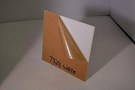 White PLEXIGLASS Acrylic Sheet Color #7328 1//8 x 24 x 16