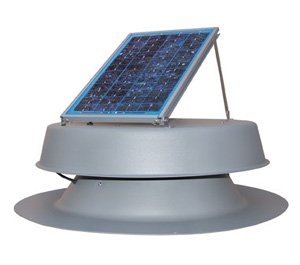 Natural Light Solar Powered Attic Fan - 7