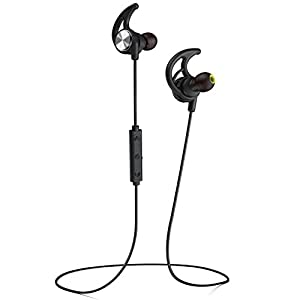 Phaiser BHS-750 Bluetooth Headphones Runner Headset Sport Earphones with Mic and Lifetime Sweatproof Guarantee – Wireless Earbuds for Running, Blackout