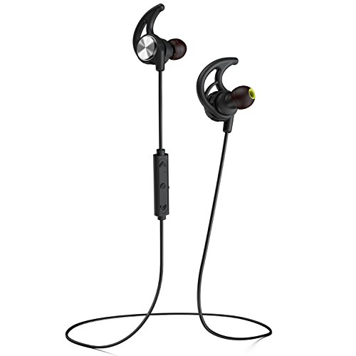 Phaiser BHS-750 Bluetooth Headphones Runner Headset Sport Earphones with Mic and Lifetime Sweatproof Guarantee - Wireless Earbuds for Running, Blackout