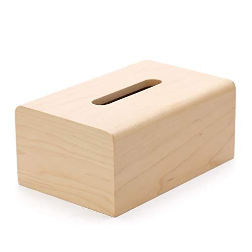 HEMFV Wooden Bamboo Square Tissue Box Cover
