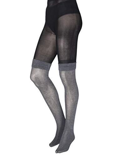 Jonathan Aston Bootsock Over The Knee Tights-C (Large)-Black