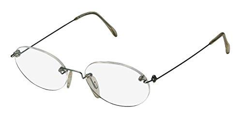 Ice 2 Mens/Womens Oval Rimless Eyeglasses/Eye Glasses (50-18-140, - Oval Face Glasses For Shape Female