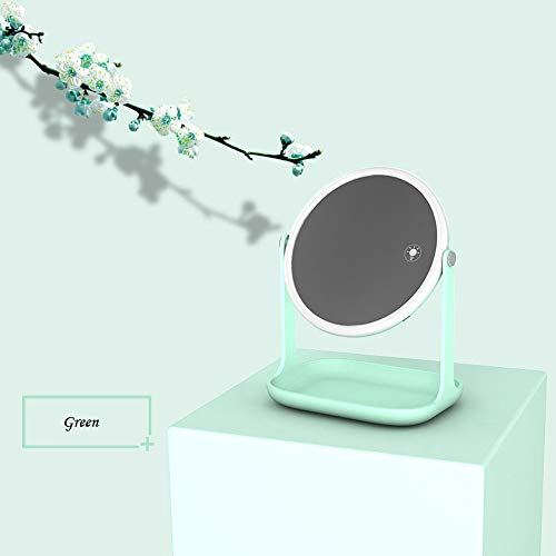 Hot Sale!DEESEE(TM)LED Tourch Screen Makeup Vanity Mirror with Light Dimmer Stage Beauty Mirror USB (Green)