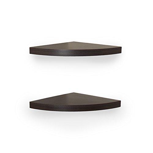 Danya b xf11115 2 laminate corner radial shelves set of 2 walnut in the uae see prices - Danya b corner shelf ...