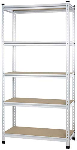AmazonBasics Medium Duty Storage Shelving Single Post Press Board Shelf, 36 x 18 x 72 Inch, Aluminum