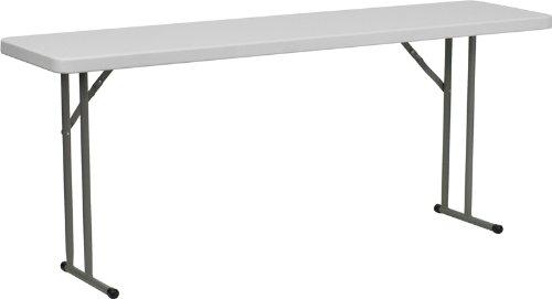 - Flash Furniture 18''W x 72''L Granite White Plastic Folding Training Table
