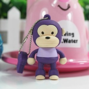 D-CLICK TM High Quality 4GB/8GB/16GB/32GB/64GB/Cool Shape USB High speed Flash Memory Stick Pen Drive Disk (16GB, Monkey Purple) (Drive Pen Monkey)