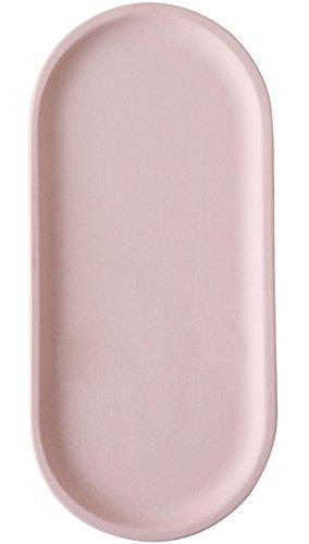 Oval Cake Ring - FUYU Pink Matte Ceramic Oval Jewelry Dish Ring Dish Cosmetics Organizer Dessert Plate Cake Plate Fruit Dish Home Decor Wedding Gift