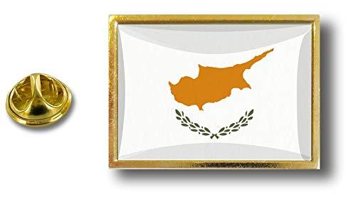 Akacha pins pin Badge pins Metal avec Pince Papillon Drapeau Chypre chypriote