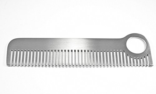 Gorgeous Brushed Matte Finish Solid Stainless Steel Medium Tooth ''Soho Comb'' by TravelMate by TravelMate