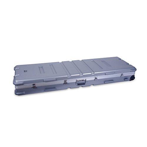 Crossrock CRA888KSL 88 Keys Keyboard Hardshell Case, Custom Inside, with Wheels, Silver by Crossrock