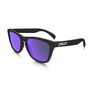 Oakley Men's Frogskins (a) Polarized Iridium Rectangular Sunglasses, Matte Black, 54 mm