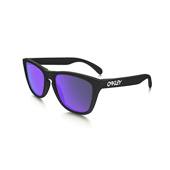 Oakley OO9013 Frogskins Sunglasses 1 Retro-inspired sunglasses in wayfarer silhouette featuring tinted lenses with UV protection and logoed earstems