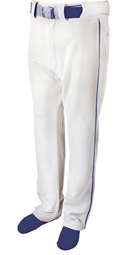 New Martin Baseball Softball White Belt Loop Pants w Navy Piping Youth XS-XL (YS)