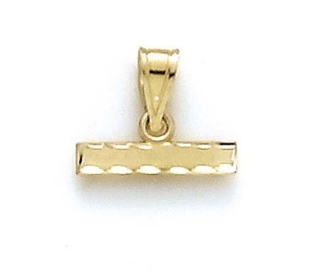 Large 14 carats avec barre pour pendentif-JewelryWeb nombre de sport