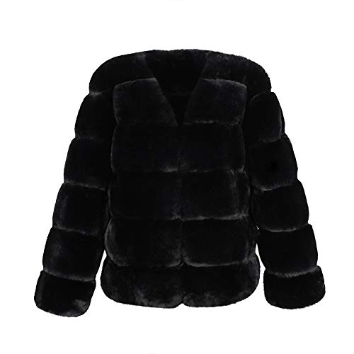 Cywulin Womens Thick Faux Fur Coat Casual Lapel Fleece Fuzzy Shearling Cardigan Warm Winter Jackets Outwear Parka Sweaters at Amazon Womens Clothing store ...