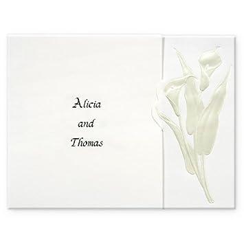 Amazon Embossed Calla Lily Wedding Invitations Health
