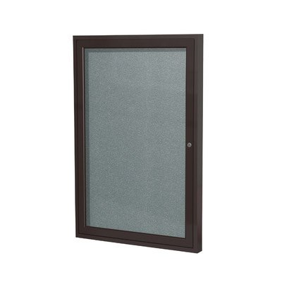1 Door Outdoor Enclosed Bulletin Board Frame Finish: Bronze, Size: 2' H x 1'6
