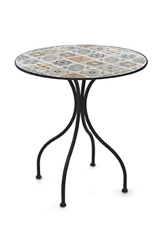 Galileo Casa Rodi Table Ronde en mosaïque Noir 70 x 75 cm ...