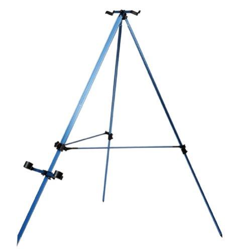 Cheap DAM Telescopic Surfcasting Fishing Rod Tripod, Blue Anodized, Surffishing Rod Holder, 2901002