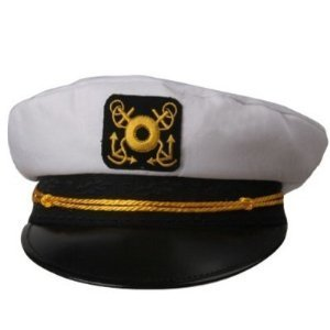 [Captains Hat - Skipper Your Own Kon Tiki Raft !!!One size fits most] (Hawaiian Costumes For Adults)