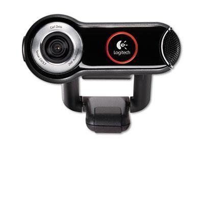 Logitech - Quickcam Pro 9000 Webcam Carl Zeiss Optics W/Autofocus 8 Megapixel Black Product Category: Audio Visual Equipment/Cameras & Accessories by Logitech