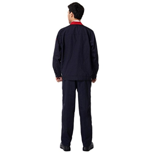 010 Rojo cuello traje chaqueta de trabajo protección uniforme traje chaqueta soldador soldadura soldador ropa 185: Amazon.es: Ropa y accesorios