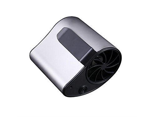 Yunqir Compatible Mini Portable Fan Personal Air USB Rechargeable Conditioning Fan Can Be Worn on The Waist Fan Travel Camping, Outdoor Work, Strong Wind 3 Settings 1200mA(Gray) by Yunqir