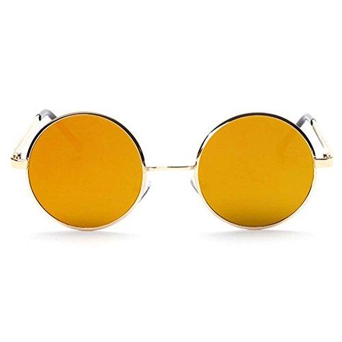 LOMOL Fashion Retro Classic UV Protection Round Plane Colorful Lens Driving - Polarisation In Sunglasses