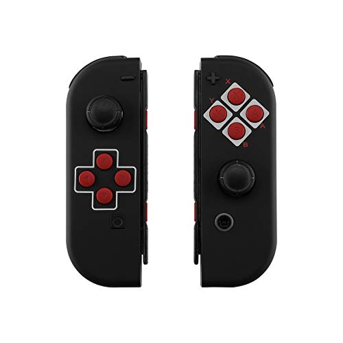 eXtremeRate Soft Touch Grip Classics NES Style Joycon Handheld Controller Housing with Full Set Buttons, DIY Replacement Shell Case for Nintendo Switch Joy-Con - Console Shell NOT Included (Nintendo Nes Shell)