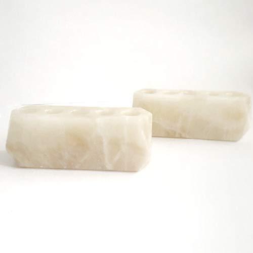 - Diamond Roller Bottle Stone Essential Oil Holder-100% Natural Stone and Handmade-Decorative Display Case Box Holder for 5, 10ml Bottles (Pearl Stone)
