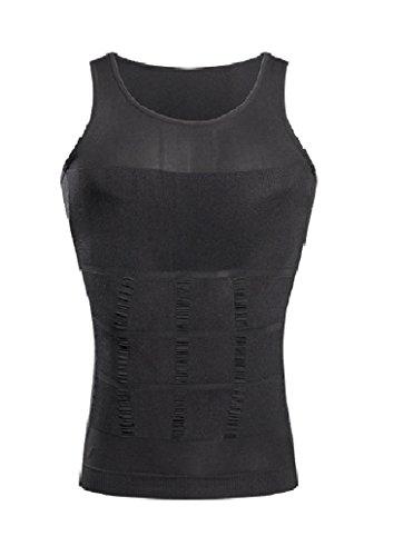 Schlankheits Unterhemd für Männer Gewichtsabnahme Entfernung von Bauchfett Hüftgold Schlankmachender Bodyformer Straffung des Unterbauchs Unterstützung des Rückens Formender Fit, Medium Grau