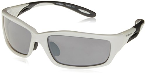 Crossfire 2243 Infinity Safety Glasses Silver Mirror Lens - Pearl White - Infinity Frames Glasses