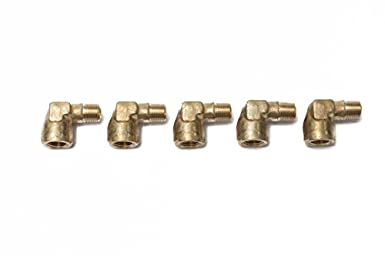 LTWFITTING Brass Pipe 90 Deg 1//4-Inch NPT Street Elbow Forged Fitting Fuel Air Boat Pack of 5