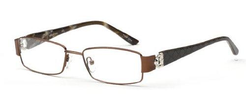 Womens Elegante Glasses Frames Brown Prescription Eyeglasses Rxable 52-17-135