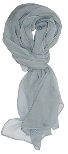 Ted and Jack - Solid Silk Lightweight Accent Scarf (Pale Grey)
