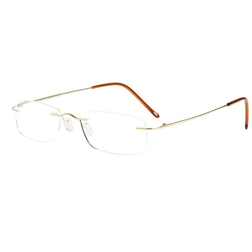 LianSan Titanium Lightweight Reading Glasses Men Womens Fash