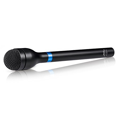 XLR Handheld Microphone Interview, BOYA Omni-Directional Wired Dynamic Microphone with Long Handle for ENG & Interviews & News Gathering and Report Youtube Video Street Broadcast Vlog Dialogue