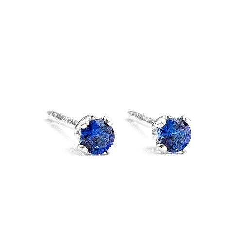 Sapphire Gemstone Earrings Sterling Silver